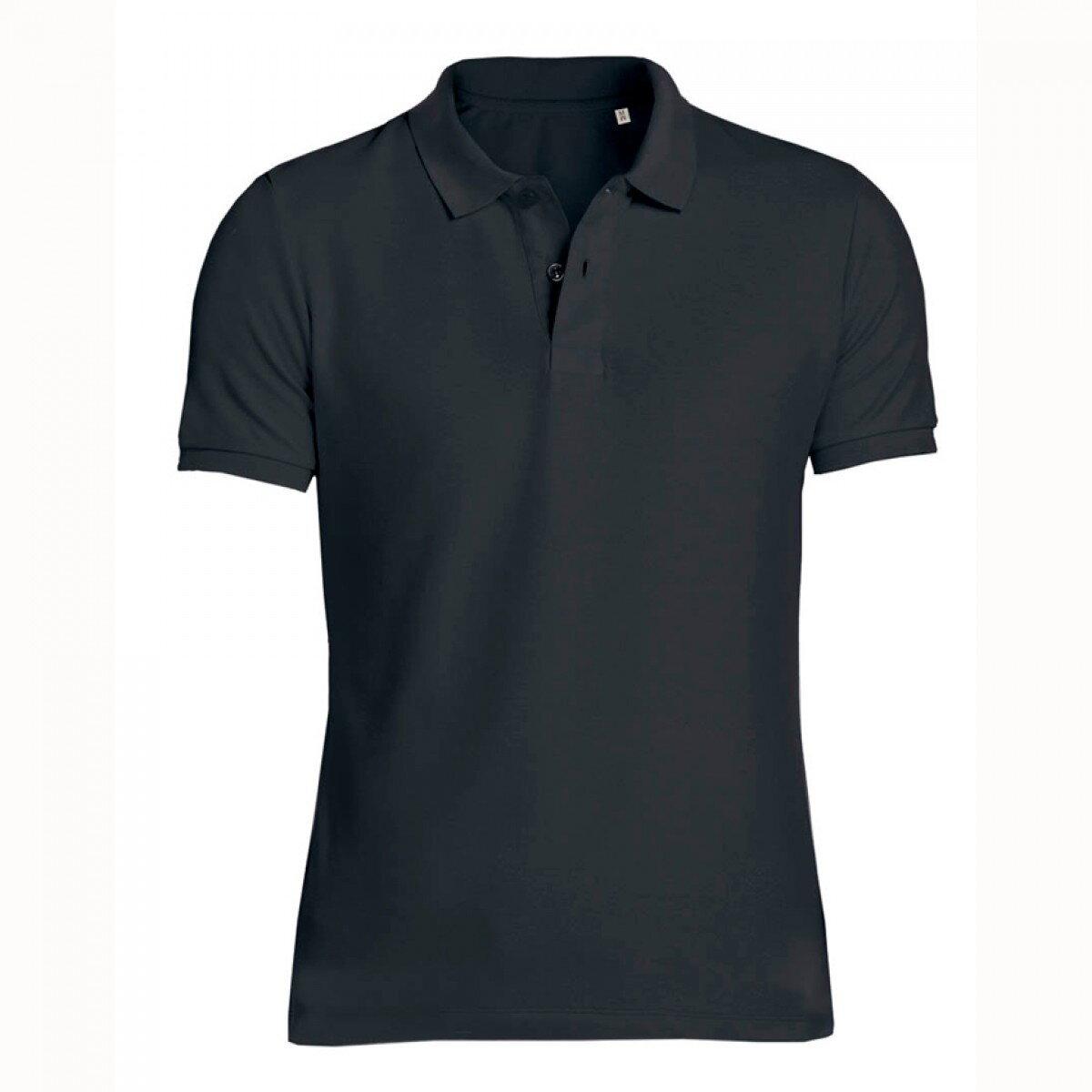 0e1b226202b Černé pánské polo tričko 100% organická bavlna