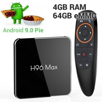 TV Box H96 max X2 S905X2 4/64GB Android 9.0 voice