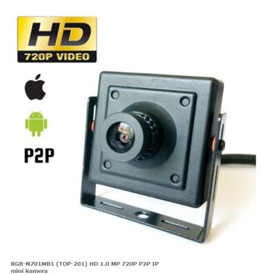 RGB-N701MB1 (TOP-201) HD 1.0 MP 720P P2P IP mini kamera