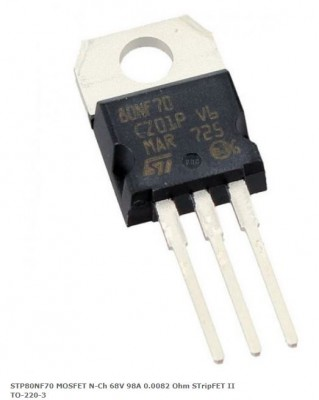 STP80NF70 MOSFET N-Ch 68V 98A 0.0082 Ohm STripFET II TO-220-3