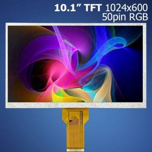 "10.1"" TFT, 1024x600, RGB, 50pin displej"