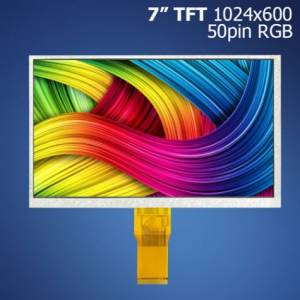 "7"" TFT, 1024x600, RGB, 50pin displej"